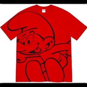 Supreme, men's Size L. Red Smurf's T. Extras NWT!!